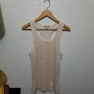 NWOT Lucky Brand crocheted tank
